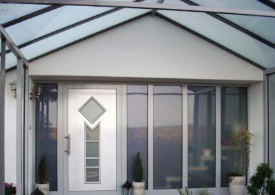 Großes Glasvordach mit Seitenteil - Offstein 2013