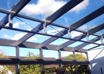 Spannweite benötigt? Terrassendach über Fachwerkträger – Wohnhaus Westhofen - 2012
